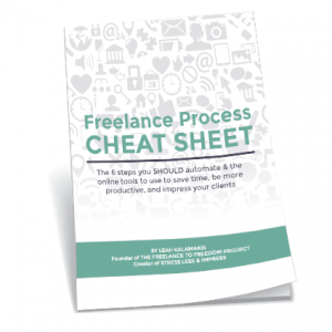 Freelance Process Cheat Sheet